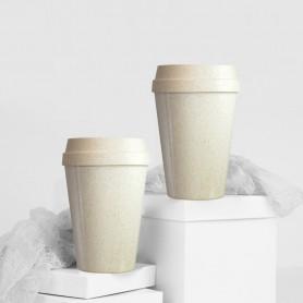 Mug étanche publicitaire à base de fibres de blé 300 ml