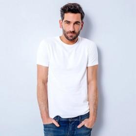 T-shirt 100% coton bio mixte sur mannequin