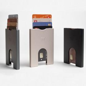 Portefeuille publicitaire en aluminium recyclé 4 cartes