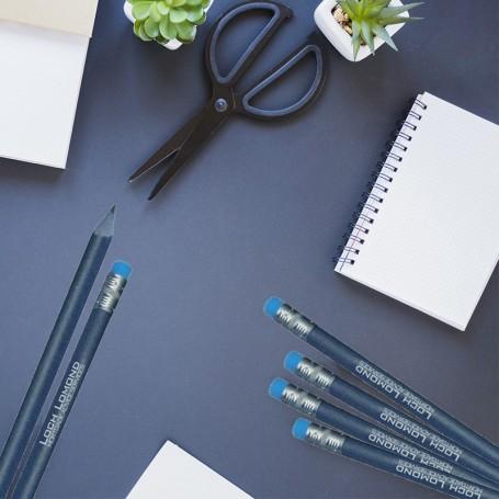 Crayon à papier publicitaire recyclé à base de jeans