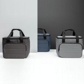 Sacoche isotherme publicitaire noir grise ou bleu